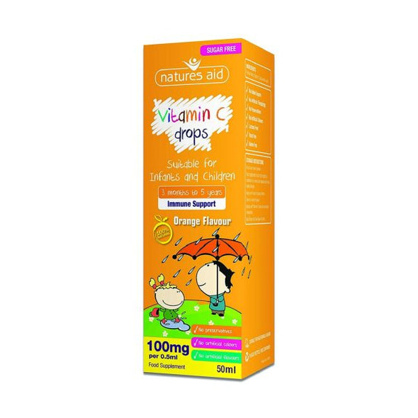 Natures Aid Children'S Vitamin C Drops 50ml
