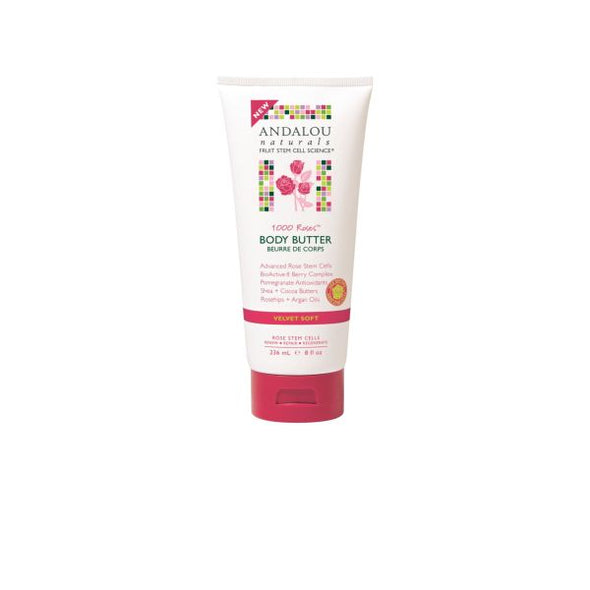 Andalou 1000 Roses Velvet Soft Body Butter 236ml
