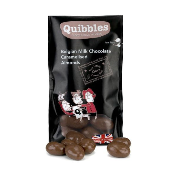 Quibbles Belgian Milk Chocolate Caramelised Almonds 30g x 28