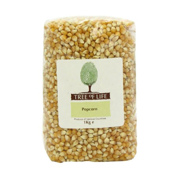 Tree Of Life Corn  Popping 1kg x 6