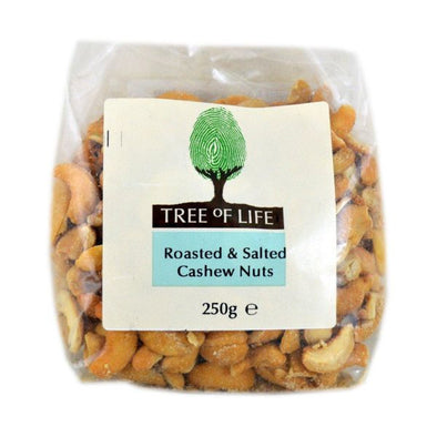 Tree Of Life Cashew Nuts  Roasted & Salted 250g x 6