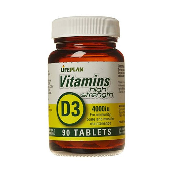 Lifeplan Vitamin D3 4000Iu Tablets 90s