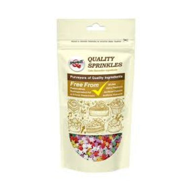 Quality Sprinkles Rainbow Multicoloured Stars Sprinkles 65g