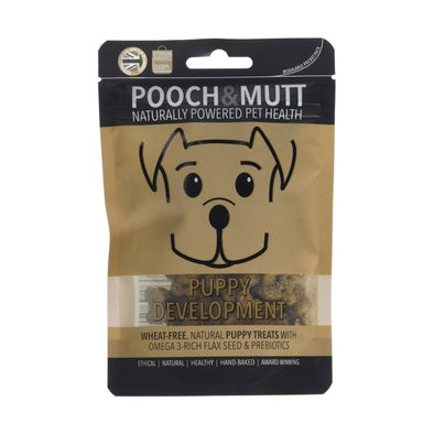 Pooch & Mutt  Puppy Development Dog Treats Pocket Pack x45g x 12