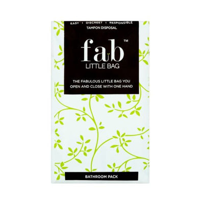 FabLittleBag Sealable One Handed Tampon Disposal Bag 26g x 12