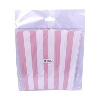 Duni Popcorn Tub Pink Stripe 6 pack