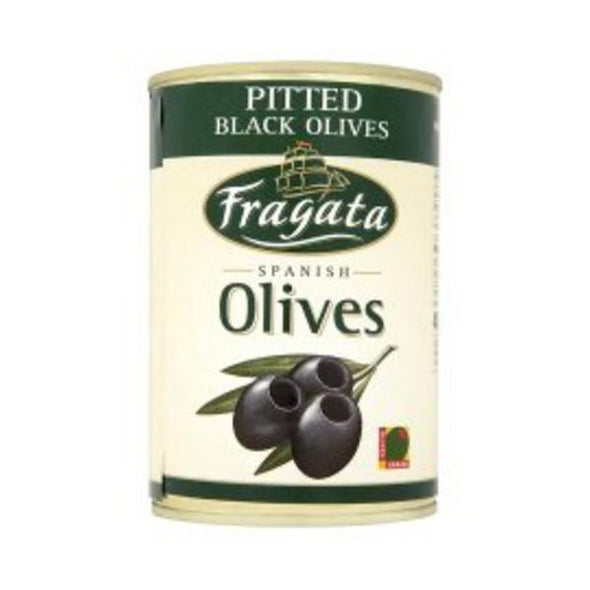 Fragata Pitted Black Olives  Tin 400g