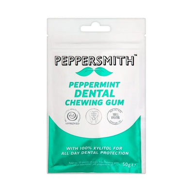 Peppersmith Dental Gum  Peppermint 50g