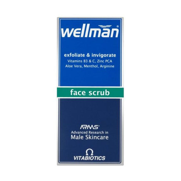 Vitabiotics Wellman Face Scrub 75ml