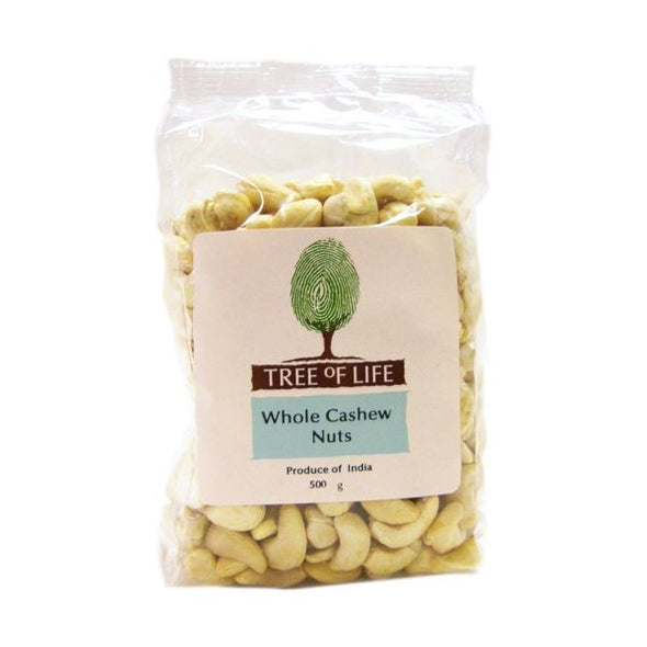 Tree Of Life Cashew Nuts  Whole 500g x 6
