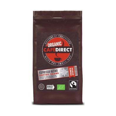Café Direct Organic Espresso Blend Whole Beans Coffee 227g