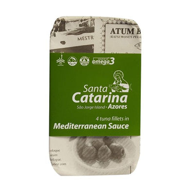 Santa Catarina Tuna Fillets In Mediterranean Sauce 120g