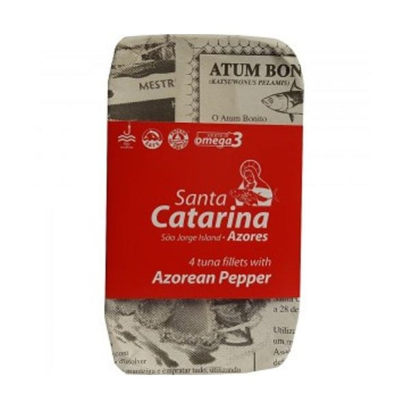Santa Catarina Tuna Fillets In Olive Oil & Azorean Pepper 120g
