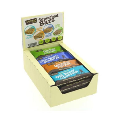 ARTISAN SNACKS SUPERFOOD OAT BARS ASSORTED CASE 45G X 16