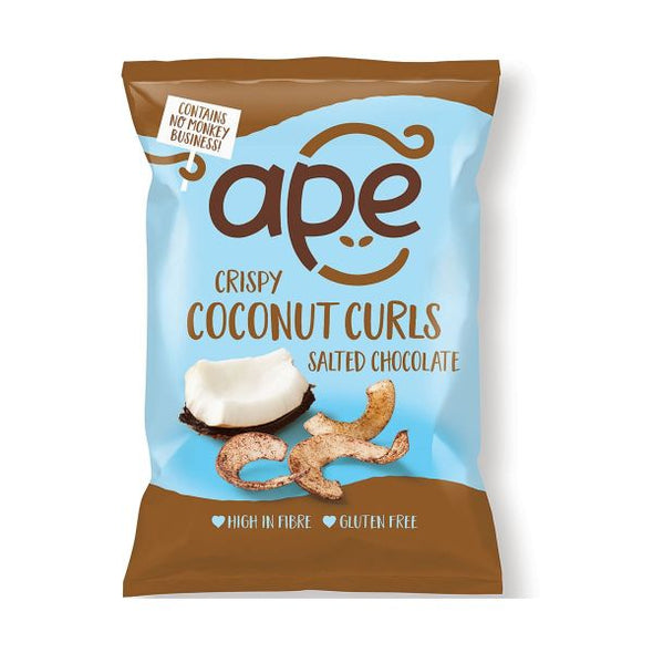 APE SALTED CHOCOLATE CRISPY COCONUT CURLS 20G X 10