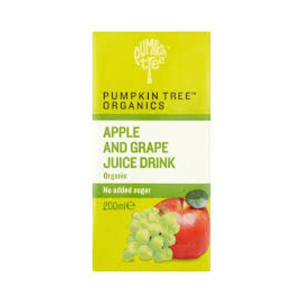 Pumpkin Tree Organic Apple & Grape Juice 200ml x 12