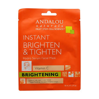 ANDALOU INSTANT BRIGHTEN & TIGHTEN FACIAL SHEET MASK 18MLX6