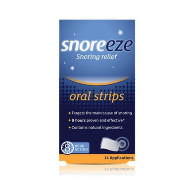 Snoreeze Snoring Relief Oral Strips 14s