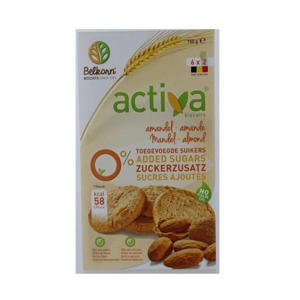 Activa Almonds Biscuits  No Added Sugar 150g
