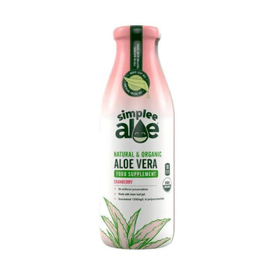 Simplee Aloe All Natural & Organic Aloe  Cranberry 500ml