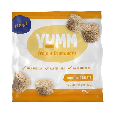 Yumm White Chocolate Protein Crunchers 23g x 10