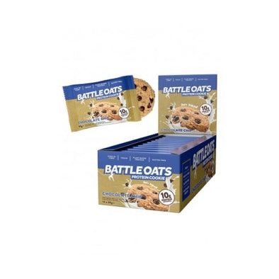 BATTLE OATS CHOCOLATE CHIP PROTEIN COOKIE 60G X 12