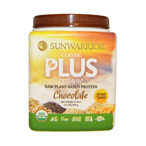 Xynergy Health Products Sunwarrior Organic Classic Plus  Chocolate 500g