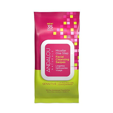 ANDALOU SENSITIVE FACIAL MICELLAR SWIPES 35 PACK
