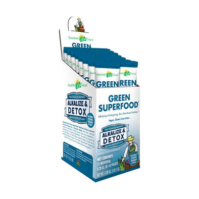 Glanbia Performance Nutrition Amazing Grass Green Superfood  Alkalize & Detox Sachets (5x8g)
