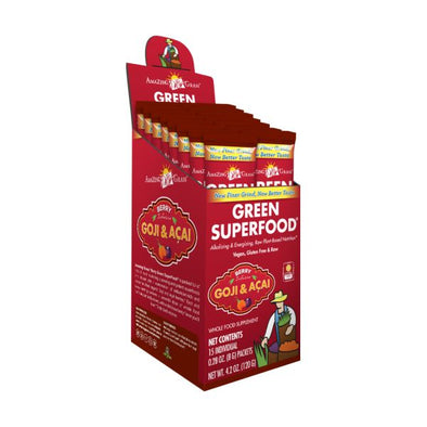 Glanbia Performance Nutrition Amazing Grass Green Superfood  Berry Sachets (15 x 8g)
