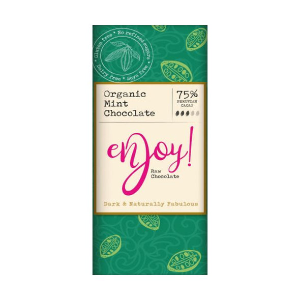 Enjoy Raw Chocolate Limited Enjoy Raw Choc Mint Chocolate Bar 40g x 15