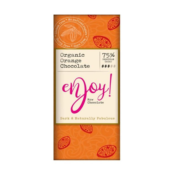 Enjoy Raw Chocolate Limited Enjoy Raw Choc Orange Chocolate Bar 40g x 15