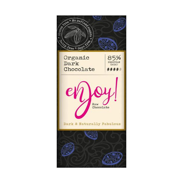 Enjoy Raw Chocolate Limited Enjoy Raw Choc Dark 85% Chocolate Bar 40g x 15