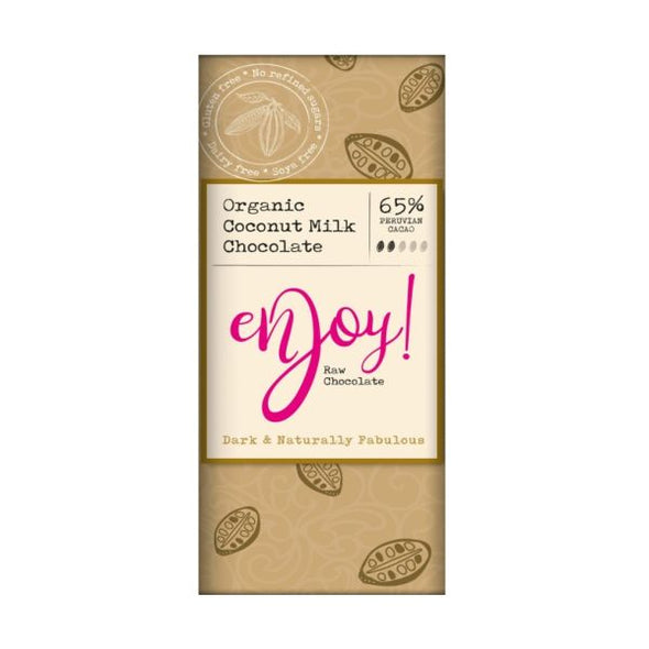 Enjoy Raw Chocolate Limited Enjoy Raw Choc 65% Chocolate Bar 40g x 15