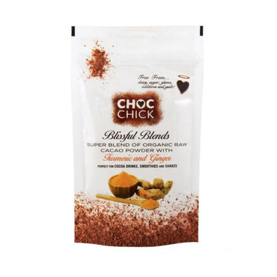 Choc Chick Raw Chocolates Choc Chick Blissful Blends Turmeric Ginger Cacao Superblend 100g