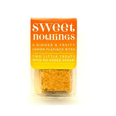Sweet Nothings Snacks Sweet Nothings Ginger + Lemon Fruity Flapjack Bites 68g x 9