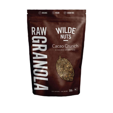 Wn&S Wholesale Wilde Nuts Raw Cacao Crunch Granola 350g