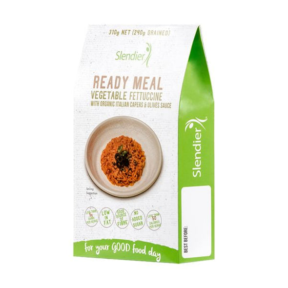 Konjac Europe Pty Slendier Capers & Olives Sauce Organic Ready Meal 310g x 6