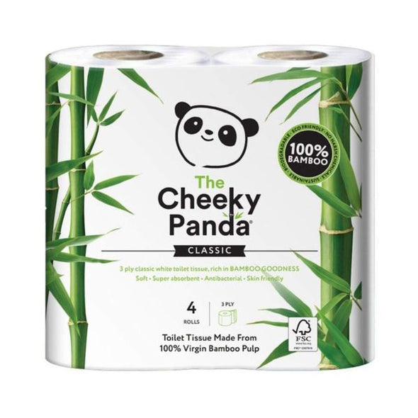 The Cheeky Panda Sustainable Bamboo Toilet Rolls 4 Pack