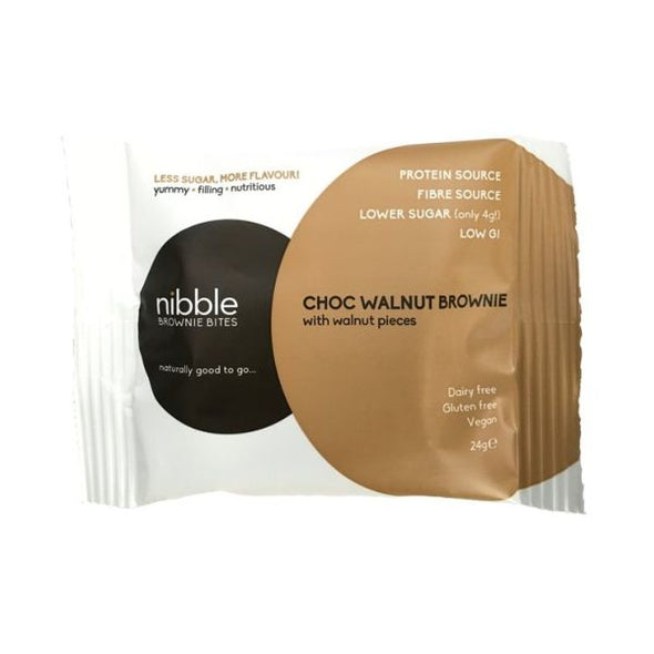 Nibble Group Nibble Protein Brownie Bites  Mint Chocolate 24g x 24