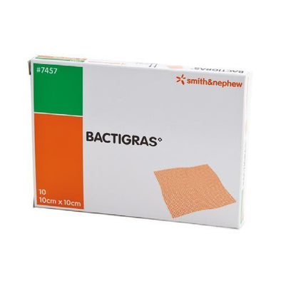Bactigras Dressing Square Brown 10 x 10 cm 10 Piece per Pack
