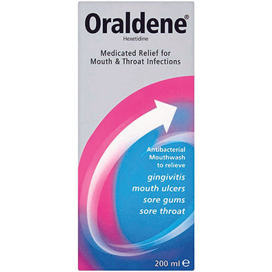 Oraldene® Antibacterial Mouthwash Alcohol 200 ml Bottle