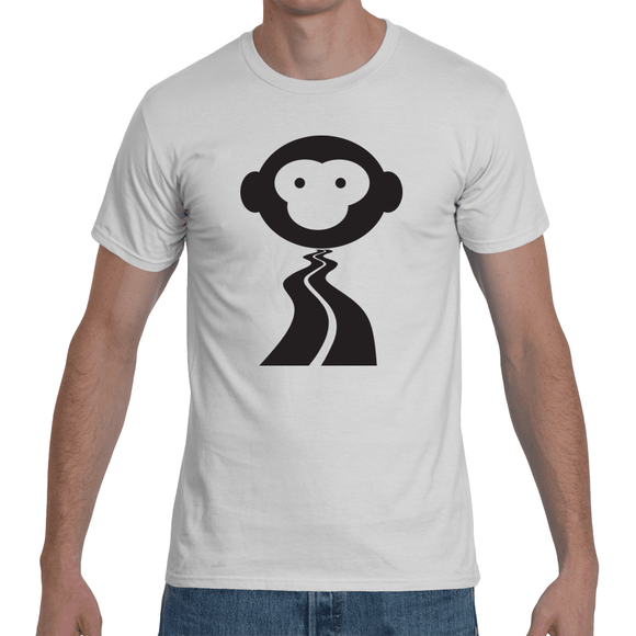 MONKEY ON ROAD - Men's T-shirt