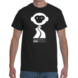 MONKEY ON ROAD (txt) - Men's T-shirt