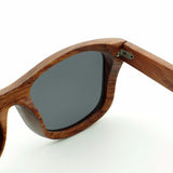 BOBO BIRD Red Wood Handmade Polarized Sunglasses