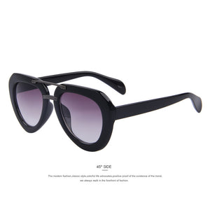 MERRY'S Womens Classic Double-Bridge Oval Sun glasses UV400