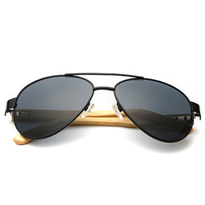 OUTEYE Wooden Arm Sunglasses