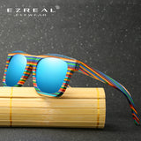 EZREAL Polarized Rainbow Wood Sunglasses