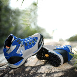 FEOZYZ Waterproof Leather Trekking-Hiking Boots