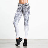 Womens Leopard Print Compression Leggings